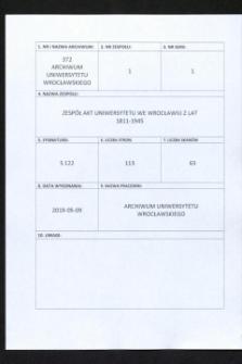 Vorlesungs- und Personal-Verzeichnis der Schlesischen Friedrich Wilhelms-Universität zu Breslau, Sommer-Semester 1941