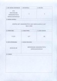 Vorlesungs- und Personal-Verzeichnis der Schlesischen Friedrich Wilhelms-Universität zu Breslau, Winter-Semester 1941/42
