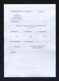 Hochschulverfaßung - Verwaltung, 7.01.1933 - 2.07.1943