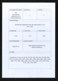 Monatsbericht der Dozentenführung an der Universität in Breslau, 1.02.1941 - 31.08.1941