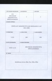 Gebührenabschlüße, 1.04.1932 - 8.04.1943