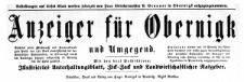 Anzeiger für Obernigk und Umgegend 1913-01-01 Jg. 20 Nr 1