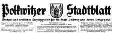 Polkwitzer Stadtblatt. Wochen und amtliches Anzeigenblatt für die Stadt Polkwitz und deren Umgegend 1933-10-20,Jg. 51 Nr 85