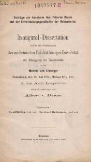 Beiträge zur Kenntniss des feineren Baues und der Entwickelungsgeschichte der Nebennieren.