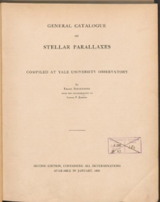 General catalogue of stellar parallaxes