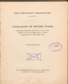 Catalogue of bright stars