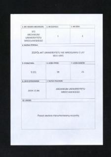 Kontrolle über den Erlaß von Immatrikulations-Gebühren, 16.04.1909 - 25.02.1919