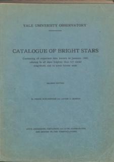 Catalogue of bright stars