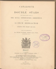 Catalogue of double stars from observations made at Royal Observatory, Greenwich