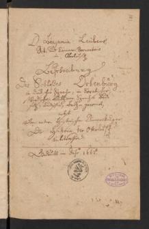 Beschreibung des Schlosses Ortenburg (zu Bautzen)