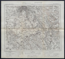 Karte des westlichen Russlands 1:100 000 - H 33. Warszawa (Süd)