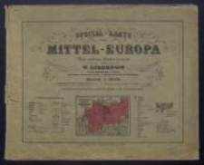 Special-Karte von Mittel-Europa 1:300 000 - Obwoluta ze skorowidzem
