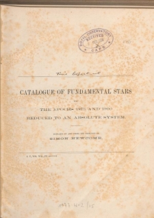 Catalogue of fundamental stars for the epochs 1875 and 1900 reduced to an absolute system