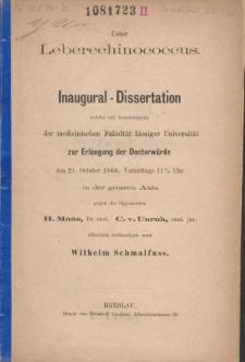 Ueber Leberechinococcus
