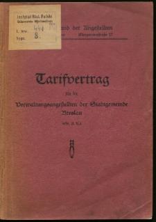 Tarifvertrag für die Verwaltungsangestellten der Stadgemeinde Breslau