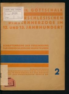 Die oberschlesischen Piastenherzöge im 12. und 13. Jahrhundert