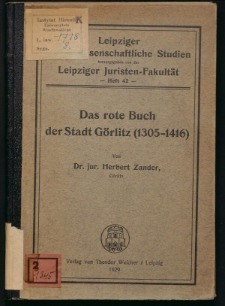 Das rote Buch der Stadt Görlitz (1305-1416)