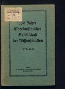 150 Jahre Oberlausitzischer Gesellschaft der Wissenschaften 1779-1929. Wegweiser von 1779-1928. Gottlob Adolph Ernst von Nostitz und Jänckendorf (Arthur vom Nordstern) als Dichter