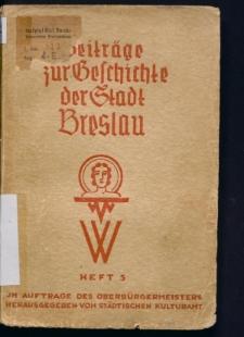 Beitrage zur Geschichte der Stadt Breslau. Neue Folge, Heft 5