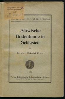 Slawische Bodenfunde in Schlesien