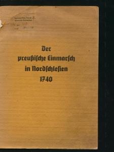 Vor zweihundert Jahren. Preussischer Einmarsch in Schlesien