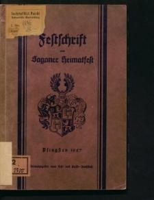 Festschrift zum Saganer Heimatfest. Pfingsten 1927