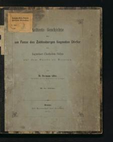 Aelteste Geschichte der am Fusse des Zobtenberges liegenden Dörfer des Augustiner-Chorherren-Stiftes auf dem Sande zu Breslau