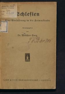 Schlesien. Ein Einführung in die Heimatkunde