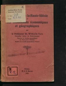 La question de la Haute-Silésie et ses fondements économiques et géographiques