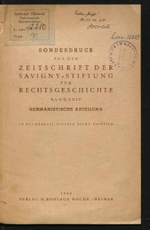 Die Gubener Handschrift des Glogauer Rechtsbuches, insbesondere ihr lehenrechtlicher Teil