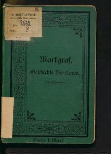 Geschichte Breslaus in kurzer Uebersicht