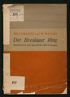"""Zur Bedeutungsentwicklung des Wortes """"Ring"""""""