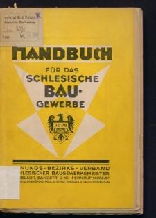 Handbuch 1930 für das schlesische Baugewerbe