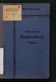 Schlesische Biographieen