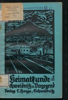 Heimatkunde von Schweidnitz und Umgegend