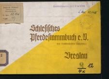 Schlesisches Pferdestammbuch e. V. dem Reichsnährstand angegliedert Breslau