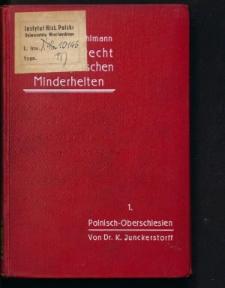 Das Schulrecht der deutschen Minderheit in Polnisch-Oberschlesien nach dem Genfer Abkommen