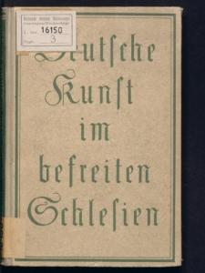 Deutsche Kunst im befreiten Schlesien