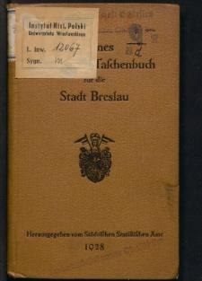 Kleines Statistisches Taschenbuch für die Stadt Breslau