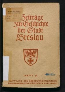Das Werden der Wirtschaft Breslaus nach dem Befreiungskriegen