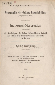 Monographie der Gattung Daphniphyllum : Allgemeiner Teil