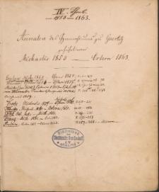 Annalen des Goerlitzer Gymnasium. Band III: 1859-1863