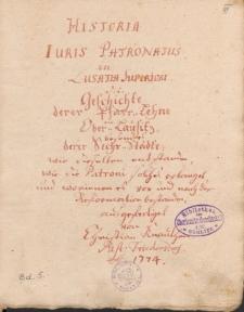 [Miscellanea Lusatica, vol. 5]
