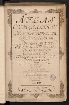 [Atlantis Cosmographici Variorum Autorum a Machnizkiis collecti Tomus VII - Karta tytułowa]
