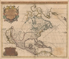 Amerique Septentrionale divisée en ses principales parties presenté a Monseigneur le Duc de Bourgogne