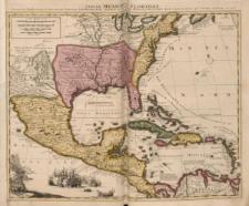 Tabula Mexicae et Floridae, Terrarum Anglicarum et anteriorum Americae Insularum; item cursuum et circuituum fluminis Mississipi dicti