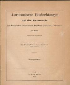 Astronomische Beobachtungen auf der Sternwarte der Königlichen Rheinischen Friedrich-wilhelms-Universität zu Bonn