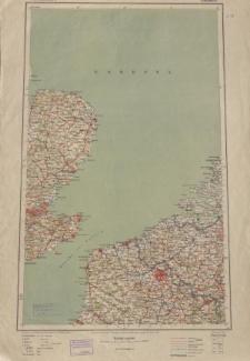Übersichtsblatt der Operationskarte 1:800 000 - Calais