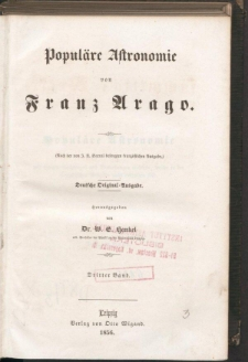 Populäre Astronomie. Bd. 3