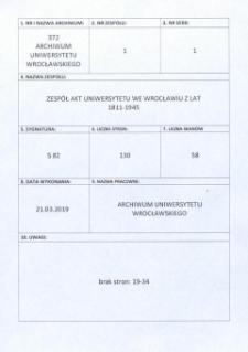 Personal-Verzeichnis der Schlesischen Friedrich Wilhelms-Universität zu Breslau, Winter-Semester 1915/16